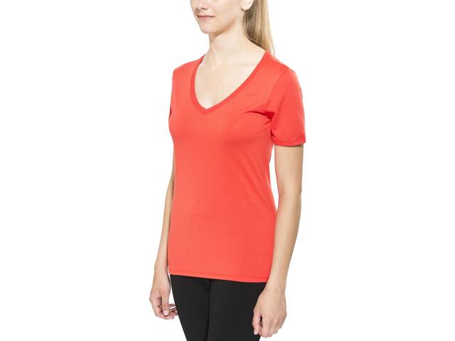 Nike Legend 2.0 Short Sleeve T-Shirt Women V-Neck lt crimson/lt crimson